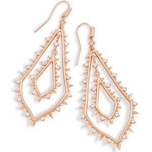 NEW Kendra Scott Alice Rose gold CZ Drop Earrings